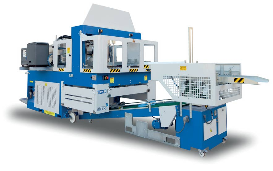 Automaint Solutions - Tecnobox TGO-X Tray Erector with Tray Stacker